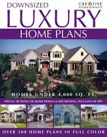 Downsized Luxury Home Plans PDF