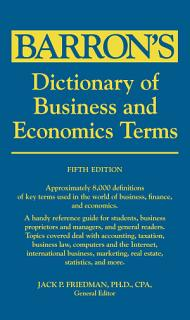 Dictionary of Business and Economic Terms Book