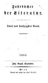 Jahrbücher der Literatur: Bände 55-56