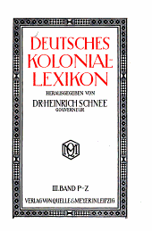 Deutsches Kolonial-lexikon: Band 3