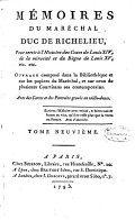 M  moires Du Mar  chal Duc de Richelieu  Pair de France     PDF