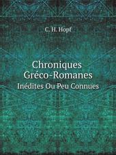 Chroniques Gr?co-Romanes