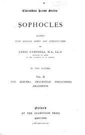 Sophocles: Volume 2