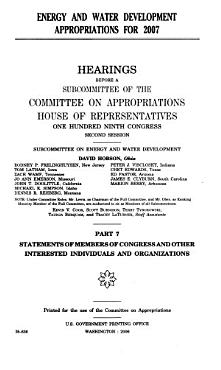 Energy and Water Development Appropriations for 2007 PDF