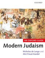 Modern Judaism PDF