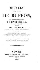 Oeuvres complètes de Buffon: avec les descriptions anatomiques de Daubenton, son collaborateur, Volume13,Partie1