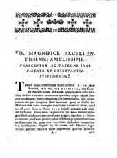 Disquisitio epistolaris Utrum Caroli V. augusti dolo vox einiger in ewiger in decreto de Philippi Magnanimi captivitate mutata fuisse falso dicatur