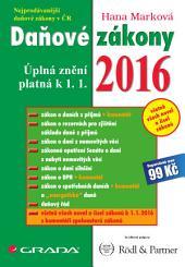 Daňové zákony 2016: Úplná znění platná k 1. 1. 2016