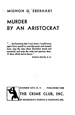 Murder by an Aristocrat PDF