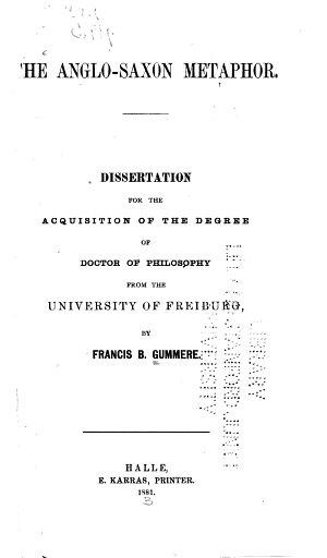 The Anglo Saxon Metaphor