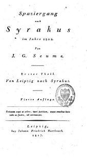 Spaziergang nach Syrakus im Jahre 1802: Band 1