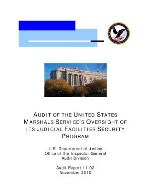 United States Marshals Service s Oversight of Its Judicial Facilities Security Program PDF
