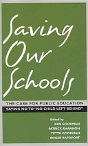 Saving Our Schools