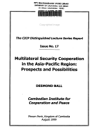Multilateral Security Cooperation in the Asia Pacific Region PDF