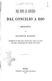 Dal papa al concilio dal concilio a Dio
