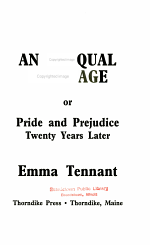 An Unequal Marriage, Or, Pride and Prejudice Twenty Years Later