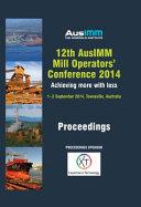12th AusIMM Mill Operators  Conference 2014 PDF