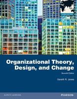 Organizational Theory  Design  and Change  Global Edition PDF