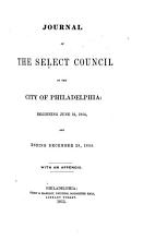 Journal of Select Council of the City of Philadelphia  for the Year     PDF