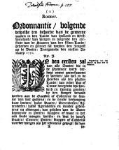 Booter. Ordonnantie, volgende dewelke [...] in [...] Holland en Westvriesland [...] geinnet sal worden den impost op de booter. Innegaande den eersten ianuary 1750
