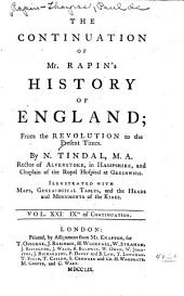 The History of England: Volume 21