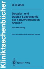 Doppler- und Duplex-Sonographie der hirnversorgenden Arterien: Eine Einführung, Ausgabe 3