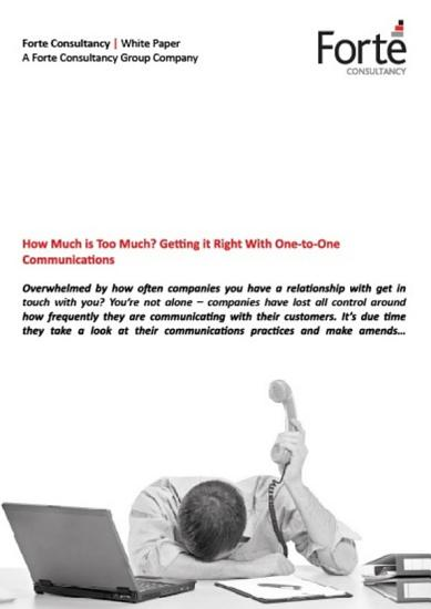 How Much is Too Much  Getting it Right With One to One Communications PDF