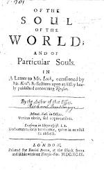 Of the Soul of the World and of Particular Souls