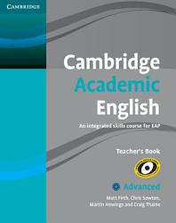 Cambridge Academic English C1 Advanced Teacher S Book Book PDF