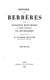 Histoire des Berbères et des dynasties musulmanes de l'Afrique septentrionale: collationné sur plusieurs manuscrits, Volume2