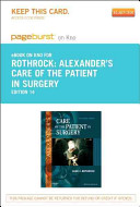 Alexander s Care of the Patient in Surgery   Pageburst E Book on Kno  Retail Access Card