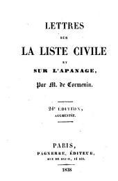 Lettres sur la liste civile et sur l'apanage