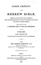 Codex criticus of the Hebrew Bible