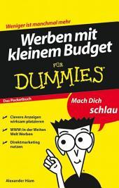 Werben mit kleinem Budget fÃ1⁄4r Dummies
