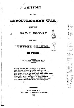 A History of the Revolutionary War Between Great Britain and the United States  in Verse PDF