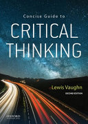 Concise Guide To Critical Thinking Book PDF