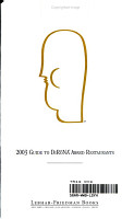 The 2003 Guide to Distinguished Restaurants of North America PDF