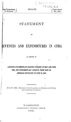 Statement of Revenues and Expenditures in Cuba PDF