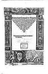 Pomerium Sermonum de Sanctis hyemales et estivales