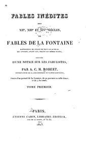 Fables inédites des XIIe, XIIIe et XIVe siècles: Volume1
