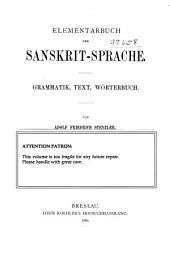 Elementarbuch der sanskrit-spache