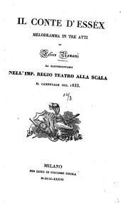 Il Conte d'Essex: Melodramma in 3 atti
