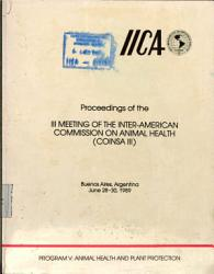Proceedings Of The Iii Meeting Of The Inter American Commission On Animal Health Coinsa Iii  Book PDF
