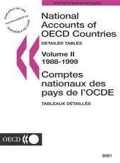 National Accounts of OECD Countries 2001, Volume II, Detailed Tables