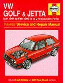 HM VW Golf Jetta 3 1984-1992 UK - OP