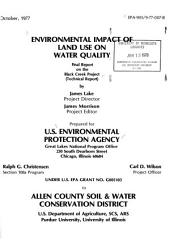 Environmental impact of land use on water quality: final report on the Black Creek Project : technical report
