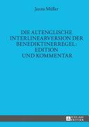 Die altenglische Interlinearversion der Benediktinerregel PDF