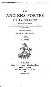 Gaufrey: chanson de geste : publiée pour la première fois d'après le manuscrit unique de Montpellier