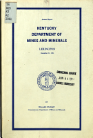 Annual Report of the Department of Mines and Minerals  Commonwealth of Kentucky PDF