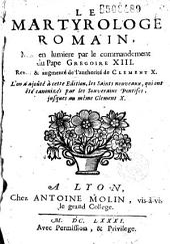 Le Martyrologe romain... jusqu'à Clément X
